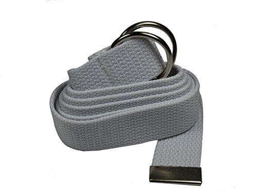 Gelante-Canvas-Web-D-Ring-Belt-Silver-Buckle-Military-Style-for-men-women-1-3-pcs