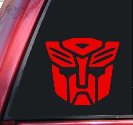 3 Step Lights Costumes Up (Transformers Autobot Vinyl Decal Sticker - Red | 4 X 3.5)