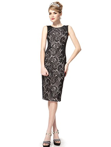 HE05336BK08 Black 6US Ever Pretty Eveving Bodycon Gowns Knee Length 05336
