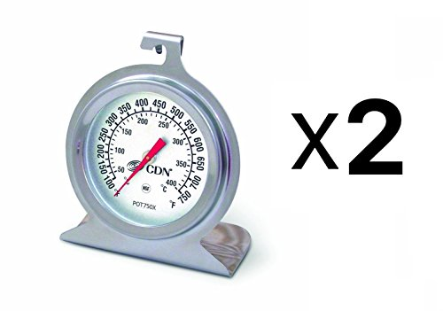 CDN POT750X High Heat Oven Thermometer (Pack of 2)