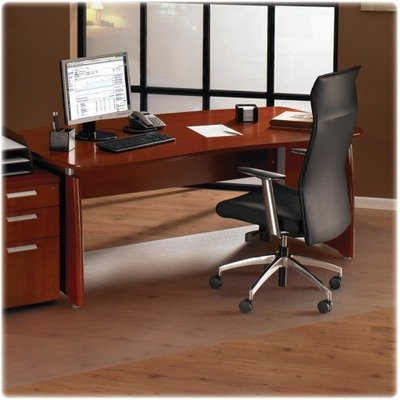 Purpose Office Mat, for Hard Floors, Strong Polycarbonate, Square, 60