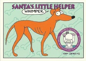 Santas Little Helper trading card (Barts Dog The Simpsons TV Show Cartoon) 1994 Skybox #S16 from Autograph Warehouse