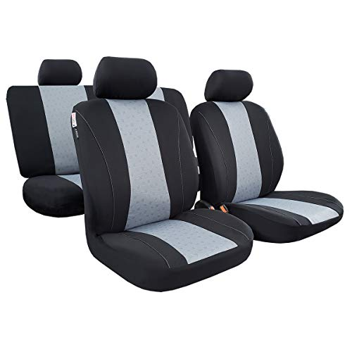 seakomoto Auto Car Seat Covers Full Set 11pcs, Airbag Compatible, Universal Easy Fit Most Car, Truck, SUV or Van, Front Low Bucket, Rear Split Bench,Headrest Cover