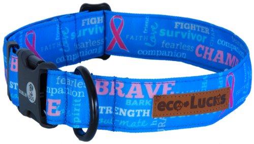 eco-Lucks Dog Collar, Fearless Blue, Large 15″ x 24″, My Pet Supplies