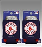 SET OF 2 BOSTON RED SOX CAN KADDY KOOZIES For Sale