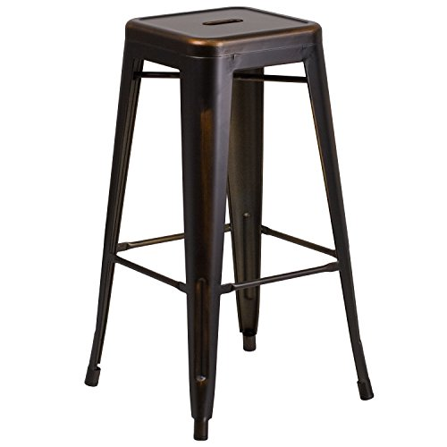 "Flash Furniture 30"" High Backless Distressed"