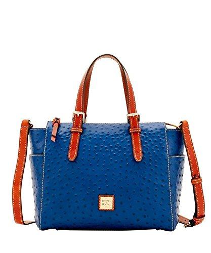 Dooney & Bourke Ostrich Ryder Shoulder Bag Midnight Blue