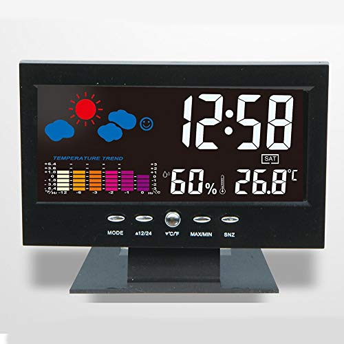 Alarm Clocks - Digital Lcd Colorful Backlight Alarm Clock Thermometer Weather Ecast Date - Digital Loudest Travel Choose Home Silent Deaf Smart Speaker Shake Music Echo Station Lighted Am/fm