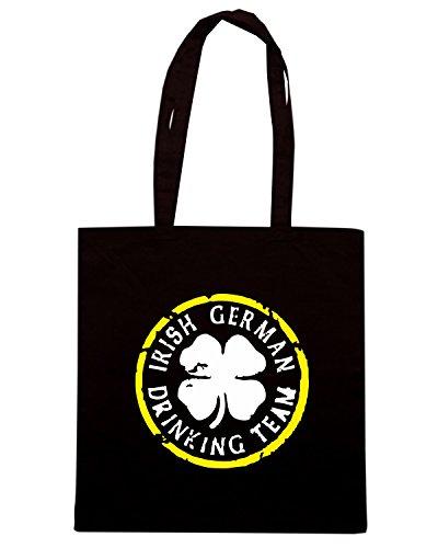 T-Shirtshock - Bolsa para la compra BEER0079 irish german drinking team dark tshirt Negro