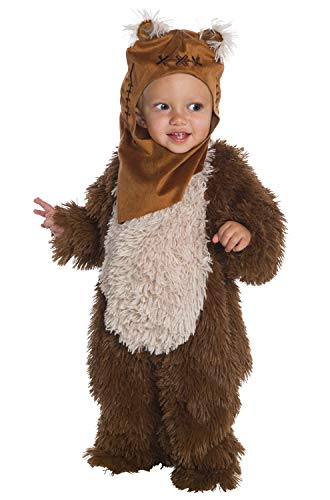 Yoda Girl Costume (Rubie's Baby Star Wars Classic Ewok Deluxe Plush Costume Romper, Color As Shown,)