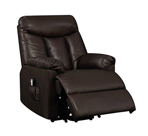 Best Home ProLounger Lya Modern Brown Renu Leather Power Recline and Lift Wall Hugger Chair