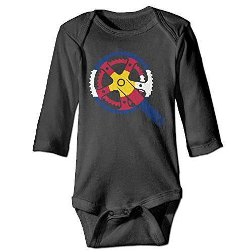 Colorado Crank Baby Girls Long Sleeve Cotton Infant Bodysuit for 6-24M -