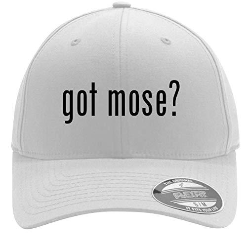 got Mose? - Adult Men's Flexfit Baseball Hat Cap, White, Large/X-Large ()