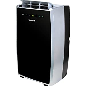 Honeywell MN12CES Portable Air Conditioner with Dehumidifier & Fan for Rooms Up To 550 Sq. Ft. with Remote Control (Black/Silver)