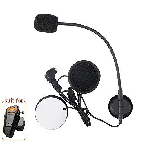 Qinaurora Microphone Soft Cable Earphone Suit for BT-S2 Motorcycle Helmet