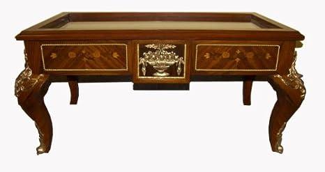 Tavolino Salotto In Noce.Stendhal Art Qs02 Tavolino Bacheca Da Salotto In Noce Intarsiato In
