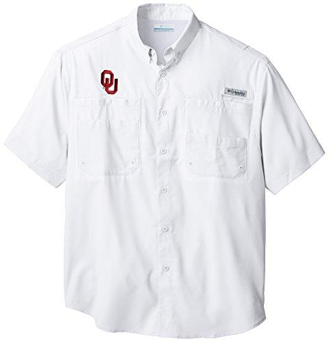 NCAA Oklahoma Sooners Collegiate Tamiami Shirt, White, - Sooner Store Ou