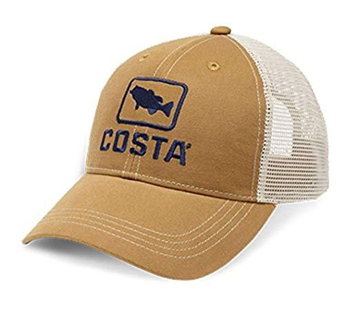 Costa Unisex Bass Trucker Brown/Stone One Size (Fish Hook Hat)