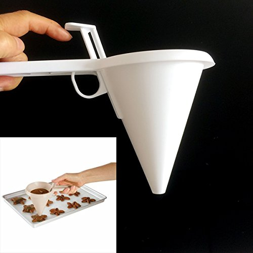 Tacoli- New Baking Pastry Tool Adjustable Icing Candy Melt Batter Easy Pour Funnel Chocolate Mold Pancake Muffin Funnel by Tacoli
