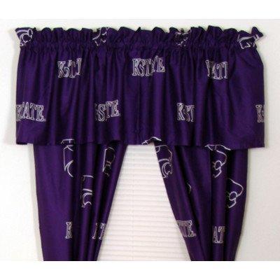Kansas Printed Curtain Panels (NCAA Printed Curtain Panel Pair Size: 42