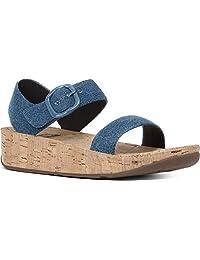 FitFlop Bon Backstrap Sandals - Denim