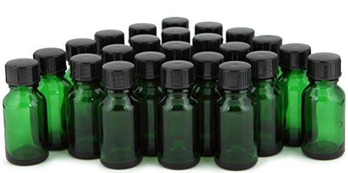 Vivaplex, 24, Green, 15 ml Glass Bottles, with Lids