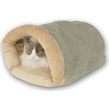 f71bbadf012 Amazon.com : Kitty Crinkle Sack Tan 17 x 17.5 x 4.5 : Pet Beds : Pet ...
