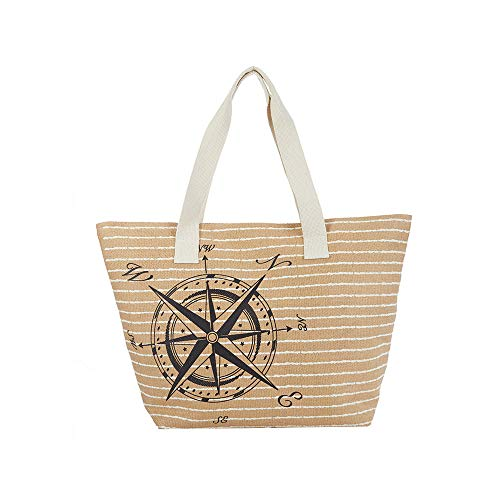 Large Tote Bag for Women - Cappelli Straworld Luxury Toyo Bag ()