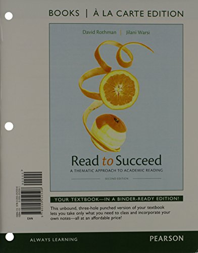 Read to Succeed: A Thematic Approach to Academic, Books a la Carte Edition (2nd Edition)