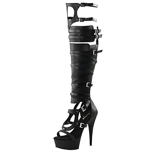 Pleaser - Sexier Than Ever Plateau Peeptoe Stiefel Delight-600-50