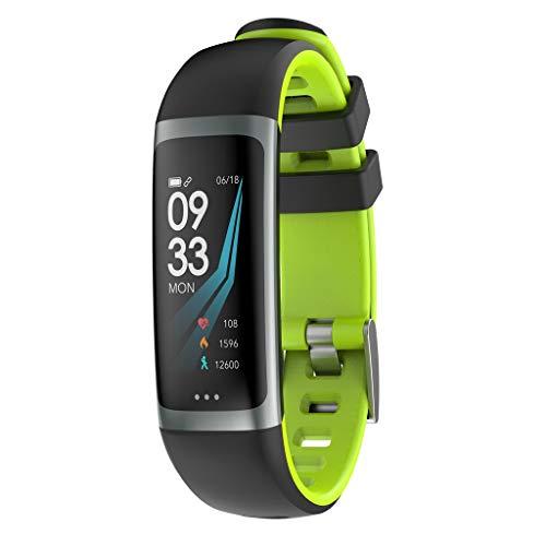 FEDULK Smart Watch Sports Fitness Health Tracker Heart Rate Sleep Monitor Blood Pressure Pedometer Smartwatch(Green) ()