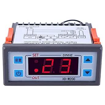 Controlador de temperatura, termostato digital XD-W200 Controlador ...