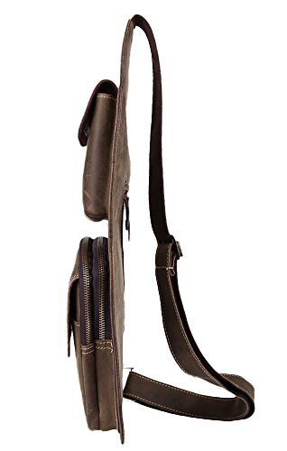 Bag Crazy Leather Brown Insun Horse Men's Sling BzUUwA