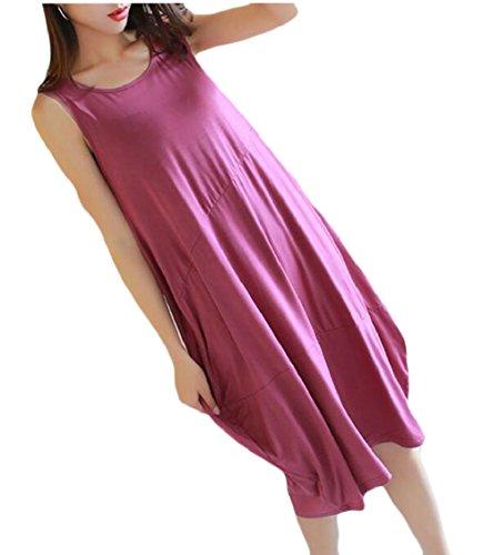 Jaycargogo 3 Summer Women Dress Tunic Dresses Tank Tshirt Mini Sleeveless Casual rArqHxnaw