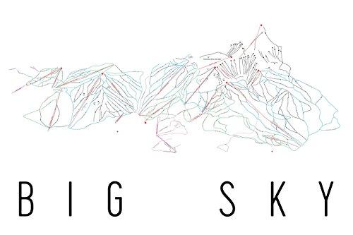 Big Sky Poster, Big Sky Ski Resort Poster, Big Sky Art Print, Big Sky Trail Map, Big Sky Trail Map Art, Big Sky Wall Art Poster, Big Sky Colorado Decorative Map, Big Sky Gift, Big Sky Decor (12