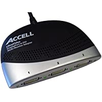 Accell K087B-005B UltraAV DisplayPort to 3 DVI Multi-Monitor Adapter