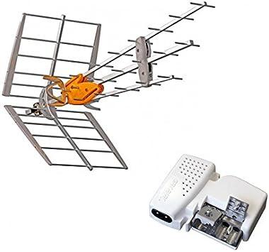 Televes Pack antena TNT DAT HD BOSS UHF + alimentación 24 V