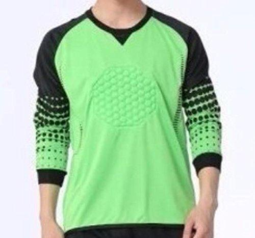 Goalie Stop (1 Stop Soccer Youth Soccer Goalkeeper Goalie Shirt Flash Green YM 26)