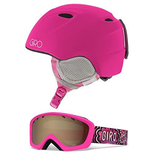 Image of the Giro Slingshot Kids Snow Helmet Goggle Combo Matte Magenta/Daizee XS/S (49-52CM)