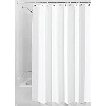 InterDesign Waterproof Mold And Mildew Resistant Fabric Shower Stall Curtain,  54 Inch By 78 Inch, White