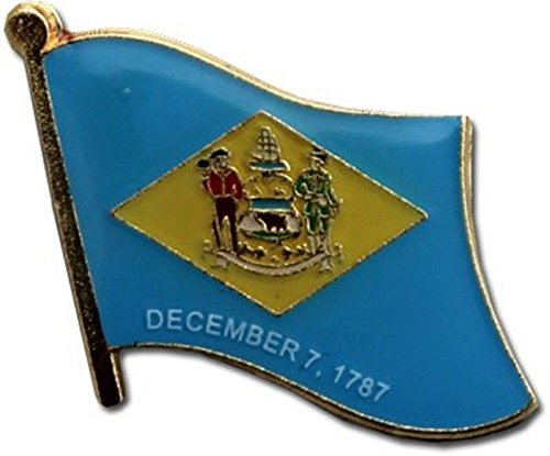 ALBATROS State of Delaware DE Flag Bike Motorcycle Hat Cap Lapel Pin for Home and Parades, Official Party, All Weather Indoors Outdoors ()