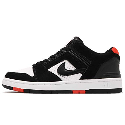 NIKE SB AIR Force II Low Mens Skateboarding-Shoes AO0300-006_12 - Black/Black-White-Habanero RED ()