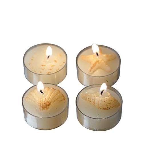 BalsaCircle 24 Caribbean Island Beach Candles - 4 Gift Boxes - Wedding Bridal Shower Party Favors Room Home Decorations Supplies ()