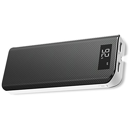 Power Bank, X-DRAGON 15000mAh Portable External Battery Charger Pack with Qpower Technology, LCD Display, Dual USB Outputs Compatible with Cell Phone, iPhone 8 X 7 Plus, Samsung, Tablet and More