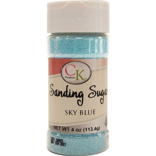 CK Products 78-50516 Cake Decorating Sanding Sugar Bottle, 4 oz, Sky Blue