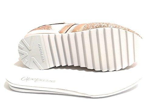 Apepazza Chaussures Femme Sneaker Mod Domitille Tissu / Suede Et Glitter Col. Cirpia Ds18ap03