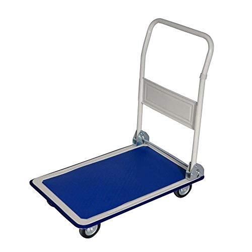 Cypressshop Platform Truck Folding Dolly Cart Rolling Trolley Moving Warehouse Cart Hand Push Walk Behind 330 lbs Load Capacity Groceries Furniture Luggage Office Supplies from Cypress Shop