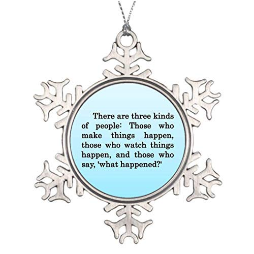 Monroe Valentine Gift Volunteer Appreciation Tropical Christmas Funny Holiday Crafts Snowflake Ornaments Home Christmas Tree Decor -