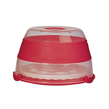 Prepworks by Progressive Collapsible Cupcake and Cake Carrier, Red - in Amazon Frustration Free Packaging