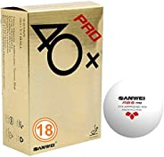 Sanwei 3* ABS Pro 40+ Ping Pong Balls - ITTF Approved Table Tennis Balls for Official Competitions